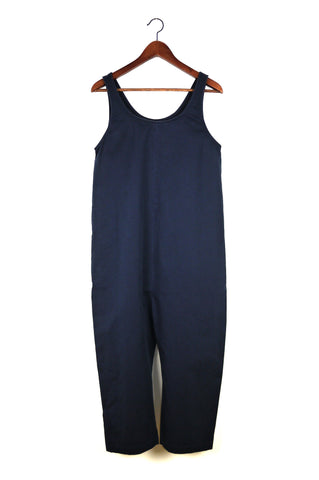 Gary Jumpsuit, Navy, Cotton Washed Twill
