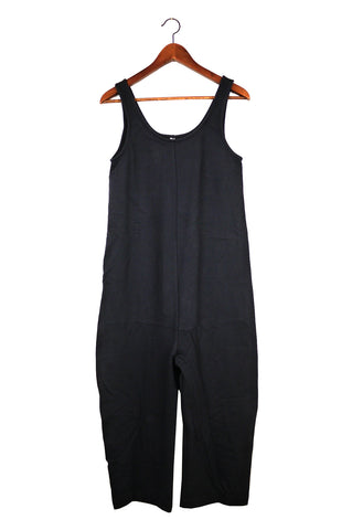 Gary Jumpsuit, Navy, Cotton French Terry