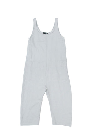 Gary Jumpsuit, Smoke, Washed Linen