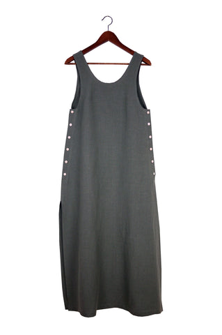 Jayna Dress, Graphite, Washed Linen