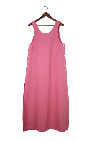 Jayna Dress, Rose, Washed Linen