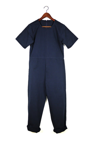 Lee Jumpsuit, Navy, Cotton Washed Twill