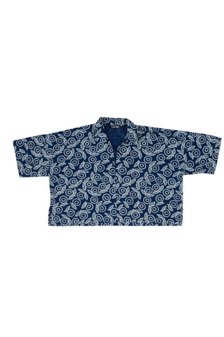 Leon, Indigo Flowers Print, Cotton