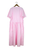 Mamie Dress, Papertouch, Pink Stripe