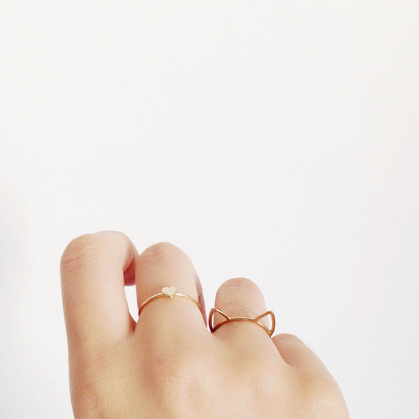 Heart Ring, 14K Yellow Gold