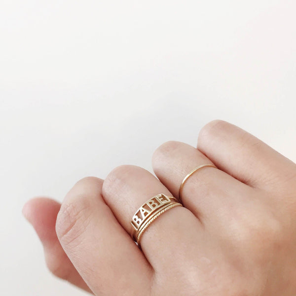 1mm Smooth Ring, 14K Yellow Gold