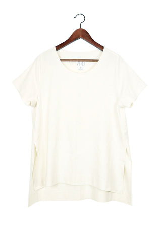 Split Tee, Natural Raw Silk