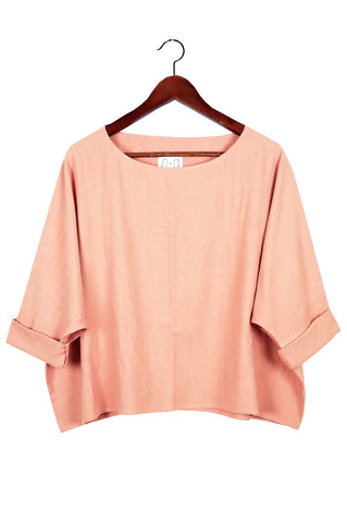 T Top, Blush Raw Silk