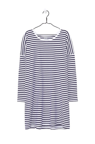 Oversized Dress, Blue White Stripe