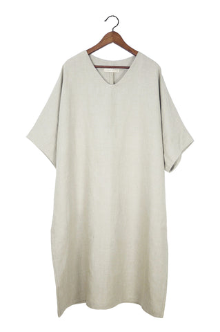 Caftan Dress, Oatmeal Linen
