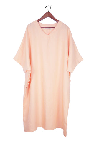 Caftan Dress, Peach Linen (Sunchild Exclusive)