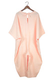 Caftan Jumpsuit, Peach Linen (Sunchild Exclusive)