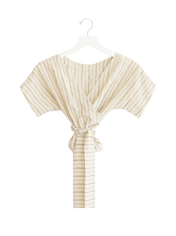 Wraparound Top, Ivory Stripe