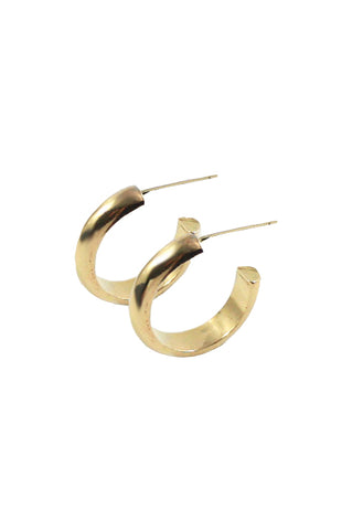 Jane Hoops, Gold Plated Brass