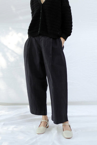 Pleated Trouser, Black