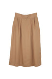 Ellis Pleated Skirt, Ecru