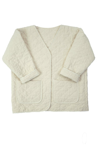 Quilted Jacket, Cream