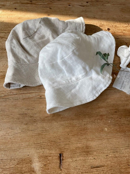 Linen Bucket Hat, Natural (Toddler)