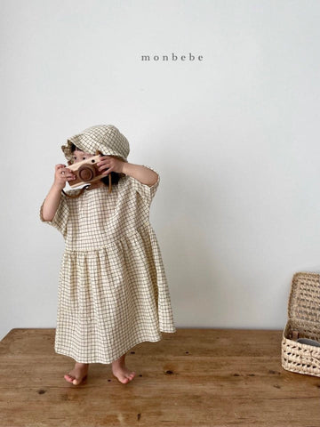 Lio Dress, Yellow Check (Toddler)