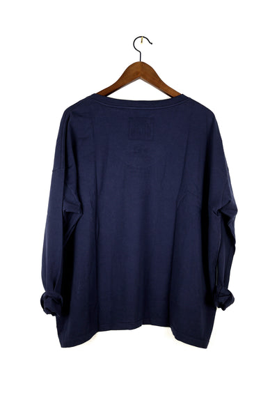#62 Long Sleeve Tee, Navy Wash