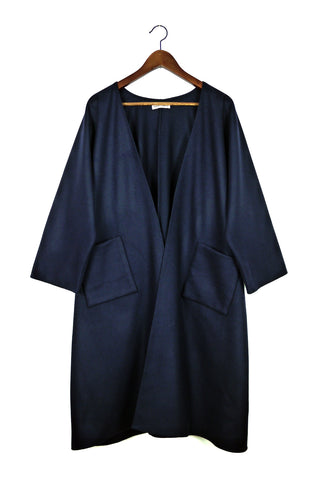 Long Kimono Jacket, Midnight Wool
