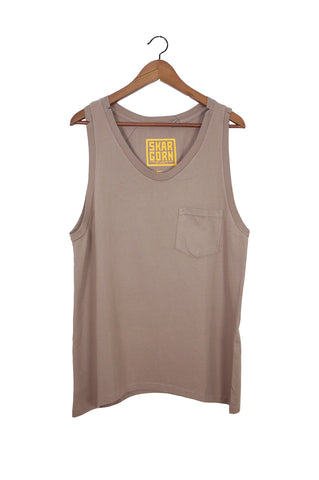 #21 Sleeveless Tee, Mud Wash