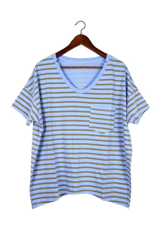#61 Short Sleeve Tee, Blue Camel Lines