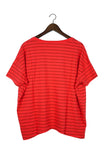 #61 Short Sleeve Tee, Red Chili Lines