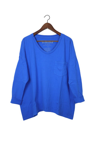 #62 Long Sleeve Tee, Azure Wash