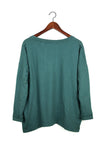 #62 Long Sleeve Tee, Petrol Wash