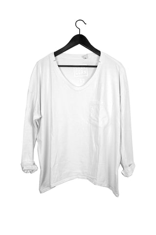 #62 Long Sleeve Tee, White Wash