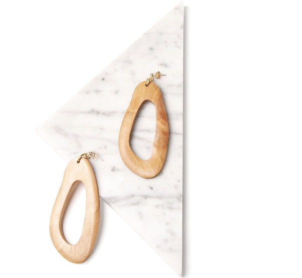 Amoeba Earrings, Pine