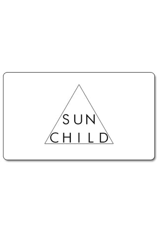 Sunchild Gift Card