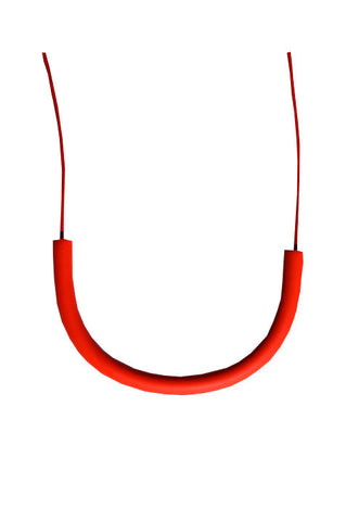 Cylinder Necklace, Red