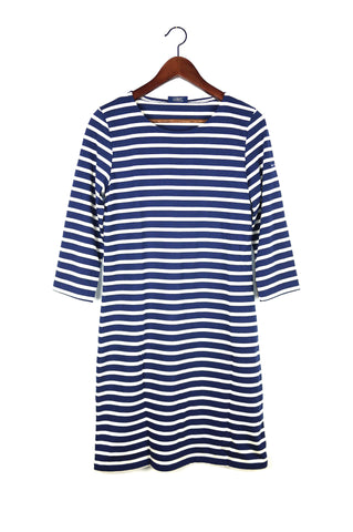 Galathee Dress, Marine/Ecru