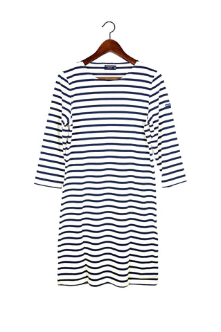 Galathee Dress, Ecru/Marine