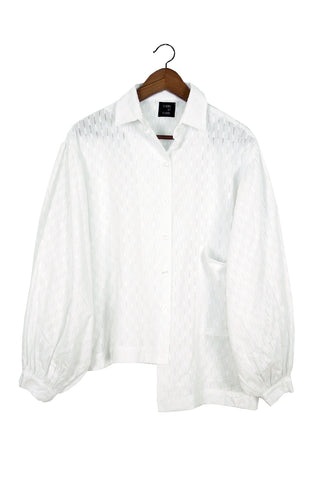 Elisa Top, White Doublet Embroidered