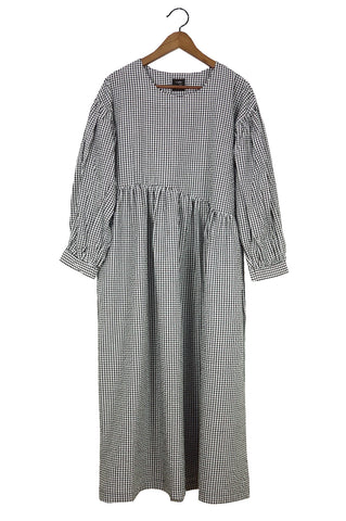 Jayme Dress, Gingham Crinkled Cotton