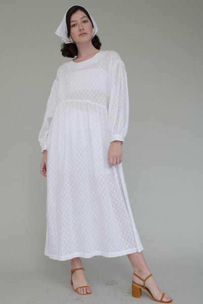 Jayme Dress, White Doublet Embroidered