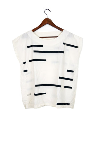 Cream Broken Stripe Tunic