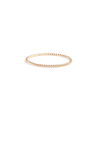 Twisted Stacker Ring, 14K Yellow Gold