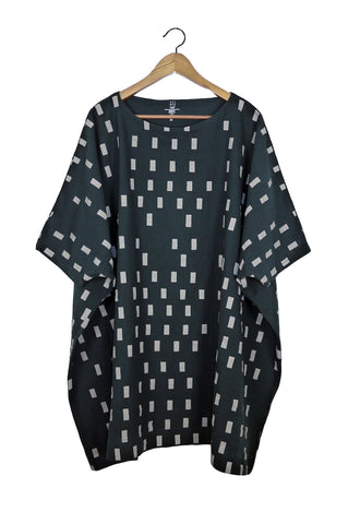 Black Disko Coarse Cotton Box Dress