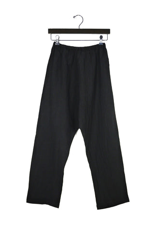 Black Coarse Cotton Pants