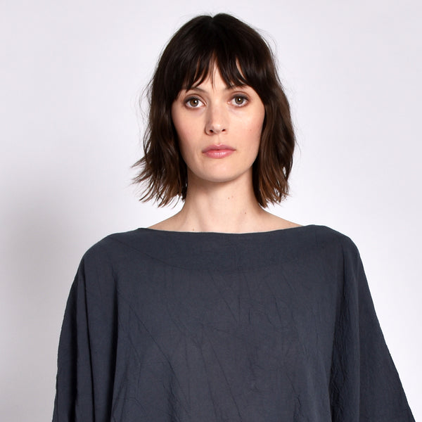 Charcoal Coarse Cotton Cube Top
