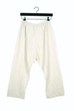 Cream Coarse Cotton Pants