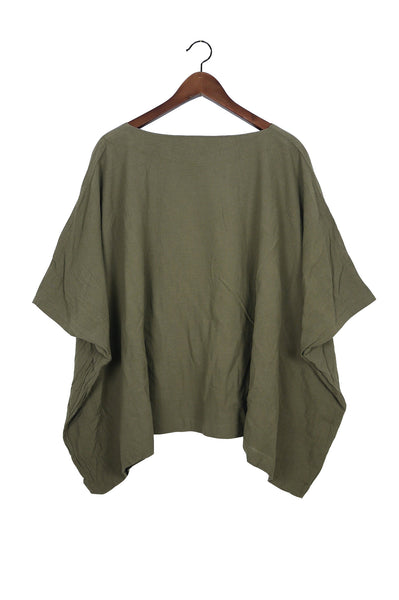 Moss Coarse Cotton Cube Top