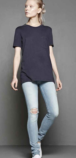 #49 Short Sleeve Tee, Black Wash