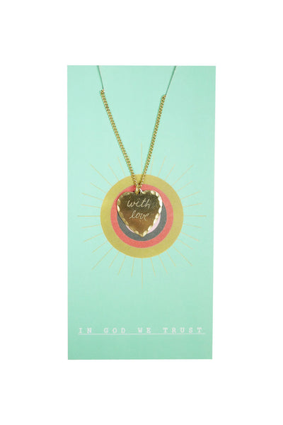 "Sweet Nothing Bronze Heart Necklace 18"" - With Love by In God We Trust NYC"