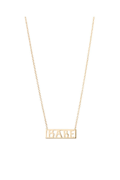 Babe Necklace, 14K Yellow Gold