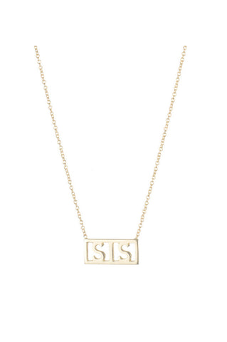 Sis Necklace, 14K Yellow Gold